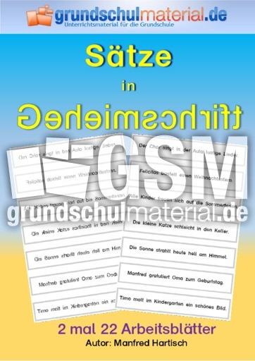 Rätselsätze_Spiegelschrift_2 - Sätze in Geheimschrift - Leseübungen ...