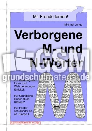 Verborgene M- und N-Wörter - Verborgene Wörter - Leseübungen - Lesen ...