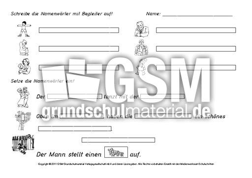 Lernzielkontrolle-Übungen-zu-Nomen - Erste Übungen zu Nomen - Nomen ...