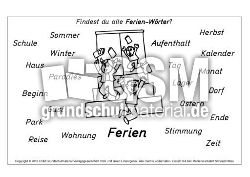 Ferien-Wörter - A-M-Nomen zusammensetzen - Nomen zusammensetzen ...