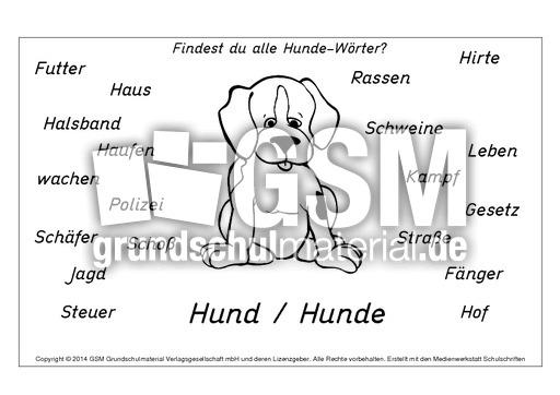 Arbeitsblatt Hund Jepang: Schulmaterial arbeitsblätter für die ...