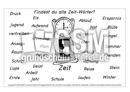 Zeit-Wörter - N-Z-Nomen zusammensetzen - Nomen zusammensetzen ...