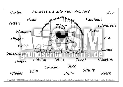 tier w rter nomen zusammensetzen zusammengesetzte nomen nomen deutsch klasse 2. Black Bedroom Furniture Sets. Home Design Ideas