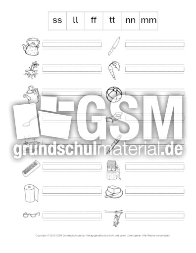 w rter mit doppelkonsonanten a doppelkonsonanten rechtschreiben deutsch klasse 2. Black Bedroom Furniture Sets. Home Design Ideas