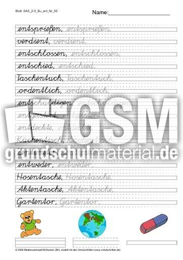 SAS Schu00f6nschreiben e bis g 2-3 - u00dcbergangslineatur 2-3 ...
