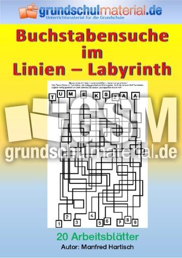 Buchstabensuche im Linien-Labyrinth - Buchstabensuche im Linien ...