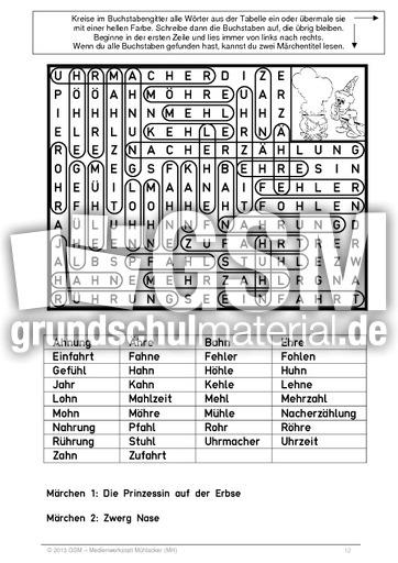 Suchsel_Dehnungs-h_leicht_abgedeckt - Rechtschreibfu00e4lle - Suchselhefte - Suchru00e4tsel - Deutsch ...
