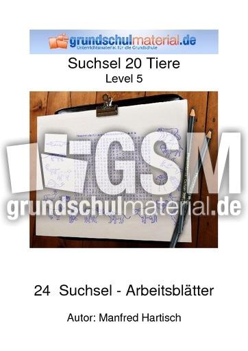 Suchsel_20_Tiere_Level_5 - Tierbegriffe - Suchselhefte ...