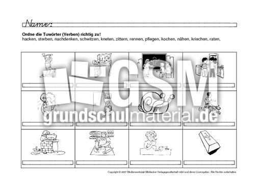 verben bildern zuordnen 16 verben zuordnen arbeitsb gen verben deutsch klasse 2. Black Bedroom Furniture Sets. Home Design Ideas