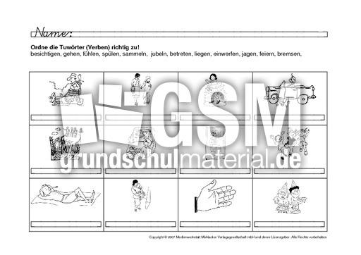 verben bildern zuordnen 8 verben zuordnen arbeitsb gen verben deutsch klasse 2. Black Bedroom Furniture Sets. Home Design Ideas
