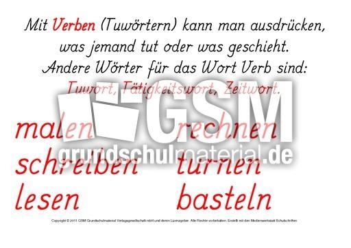 1-Verben-Erklärung - Erste Übungen zu Verben - Verben - Deutsch ...