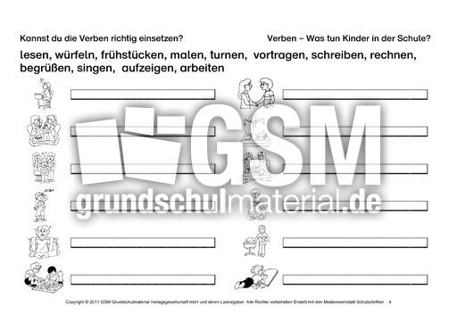 erste bungen zu verben teil 1 erste bungen zu verben verben deutsch klasse 2. Black Bedroom Furniture Sets. Home Design Ideas