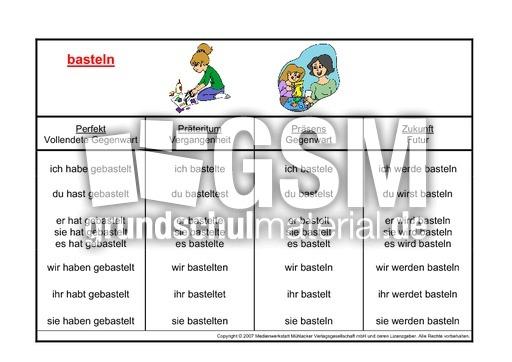 Weihnachtsbasteln 2 Klasse.Basteln K Kartei Verben Deutsch Klasse 2 Grundschulmaterial De
