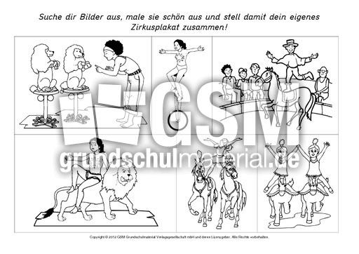 Bilder-fu00fcr-ein-Zirkusplakat-B-1-5 - Arbeitsblu00e4tter-Zirkus ...