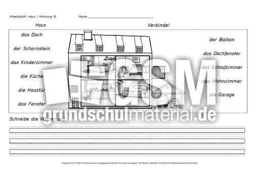 arbeitsblatt haus wohnung 16 arbeitsbl tter haus wohnung werkstatt wohnen geb ude. Black Bedroom Furniture Sets. Home Design Ideas