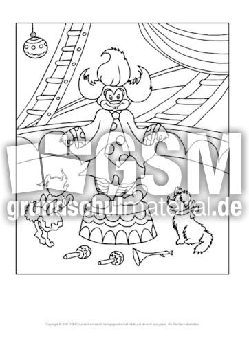 Ausmalbild Im Zirkus Hoch 4 Ausmalbilder Zirkus Werkstatt Zirkus