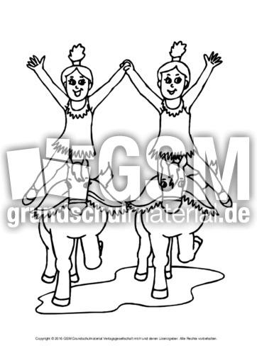 Ausmalbild Im Zirkus Hoch B 6 Ausmalbilder Zirkus Werkstatt