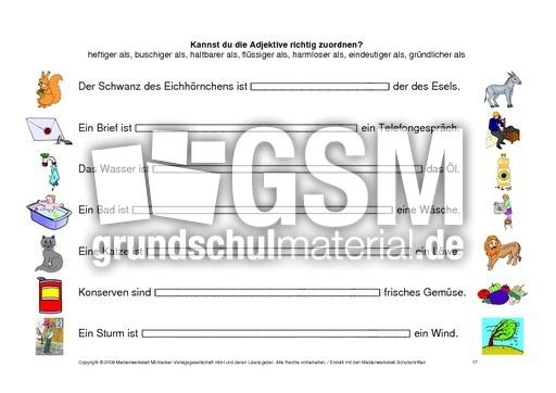 Adjektive 1 vergleichsstufe kartei 16 22 pdf
