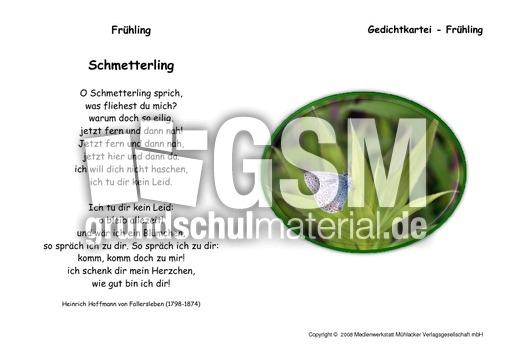 Schmetterling-Fallersleben - Kartei Fru00fchlingsgedichte ...