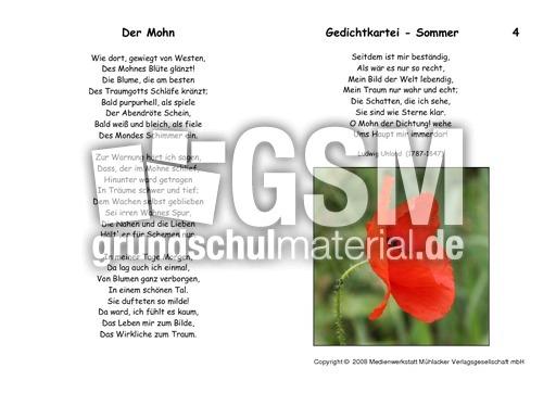 Der-Mohn-Uhland - Kartei Sommergedichte - Gedichte-Kartei ...