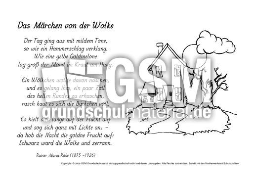 M Das Märchen Von Der Wolke Rilke Ausmalbilder Werkstatt