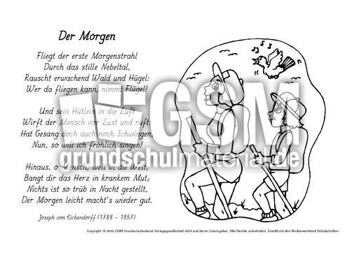 M-Der-Morgen-Eichendorff - Ausmalbilder - Werkstatt ...