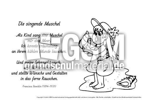 M Die Singende Muschel Stoecklin Ausmalbilder Werkstatt