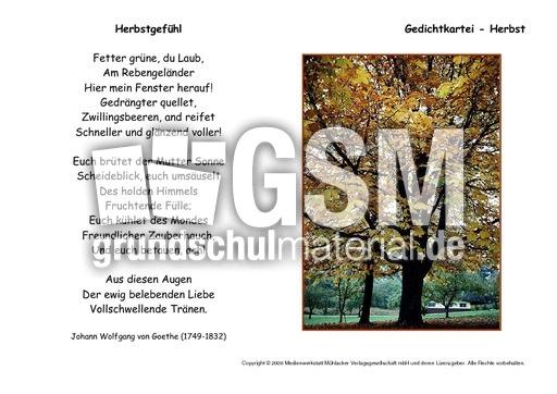 Herbstgefu00fchl-Goethe-B - Kartei-Herbstgedichte - Werkstatt ...