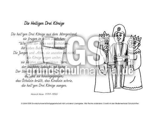 A-Hl-drei-Ku00f6nige-Heine - Ausmalbilder Weihnachtsgedichte ...