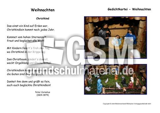 Christkind-Cornelius - Kartei Weihnachtsgedichte ...