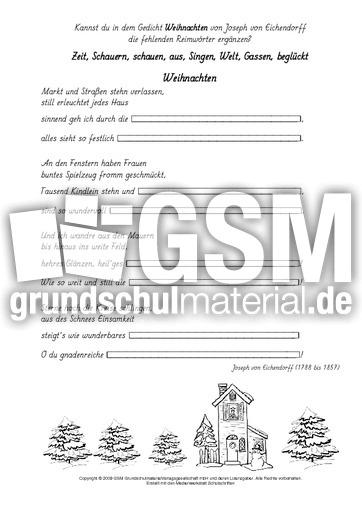 Weihnachtsgedicht auf englisch und deutsch gemischt