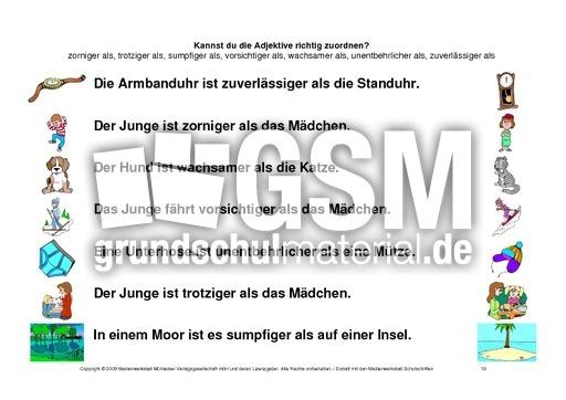 Nett Vergleich Adjektive Arbeitsblatt Bilder - Arbeitsblätter für ...