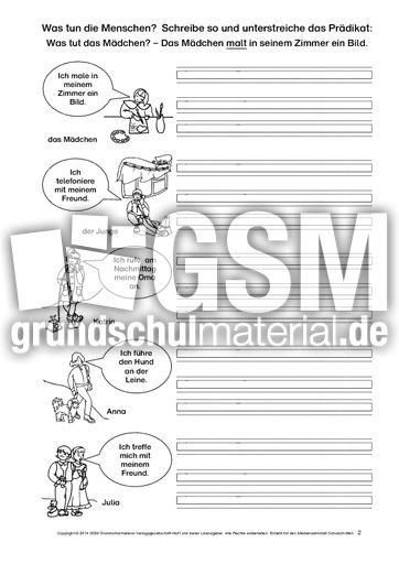 arbeitsblatt vorschule 187 satzglieder 4 klasse 252bungen