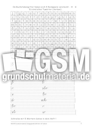 verben buchstabengitter bungen arbeitsbl tter verben grammatik deutsch klasse 3. Black Bedroom Furniture Sets. Home Design Ideas