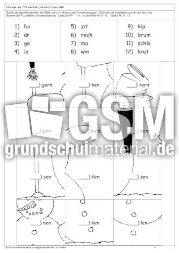 verben puzzle 2 bungen arbeitsbl tter verben grammatik deutsch klasse 3. Black Bedroom Furniture Sets. Home Design Ideas