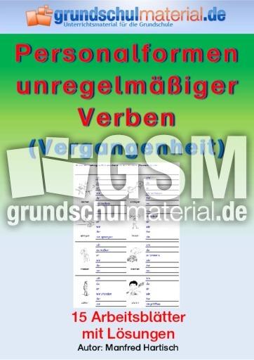 Personalformen unregelmäßiger Verben (Vergangenheit ...