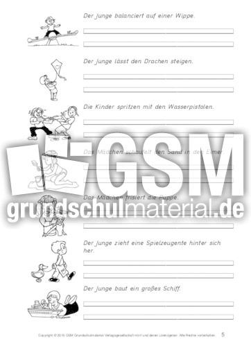 AB-Sätze-Kinderspiele-Verben-Vergangenheitform 5 - Präteritum ...