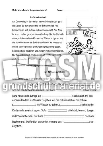 im schwimmbad 1 vergangenheit einsetzen druck zeitformen ben verben grammatik deutsch. Black Bedroom Furniture Sets. Home Design Ideas