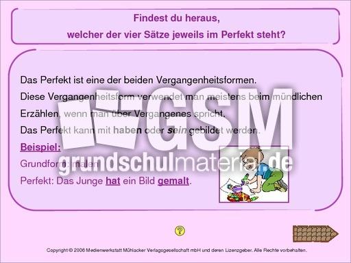 Verben-Perfekt - interaktive u00dcbungen - Verben - Grammatik ...