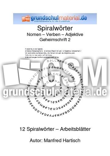 Nomen Verben Adjektive_Geheimschrift 2 - Spiralwu00f6rter ...