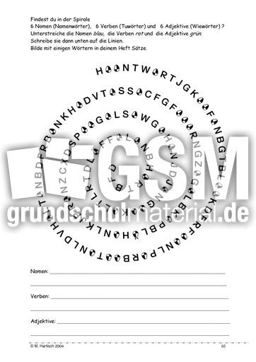 Arbeitsblatt Adjektive Klasse 6 : Arbeitsblatt vorschule adjektive nomen verben