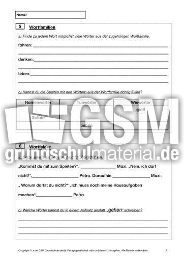 Test Deutsch Ende 3. Klasse - Jahrestests ...