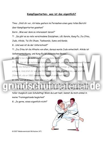 judo sachtext sachtexte lese bungen deutsch klasse 3. Black Bedroom Furniture Sets. Home Design Ideas