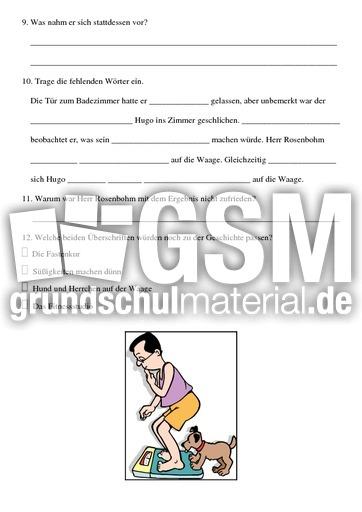 gewichtsprobleme lese aufgaben mappen lesen deutsch klasse 3. Black Bedroom Furniture Sets. Home Design Ideas