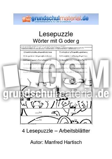 lesepuzzle g g lese puzzle lesegenauigkeit schulen lesen deutsch klasse 3. Black Bedroom Furniture Sets. Home Design Ideas