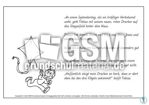 Lesen Und Malen Herbst Teil 2 Lesehefte Lesen Deutsch Klasse 3
