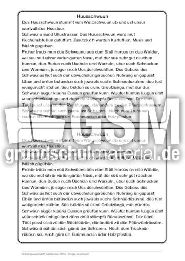 hausschwein 39 tierbeschreibungen tierbeschreibungen lesen deutsch klasse 3. Black Bedroom Furniture Sets. Home Design Ideas