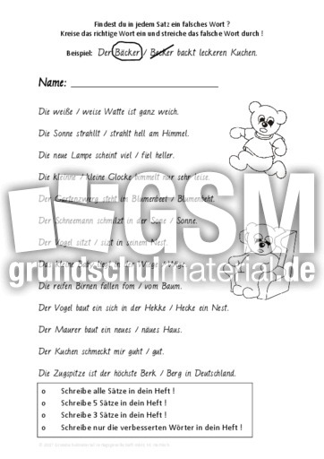 Richtig Oder Falsch Arbeitsblätter Rechtschreibung