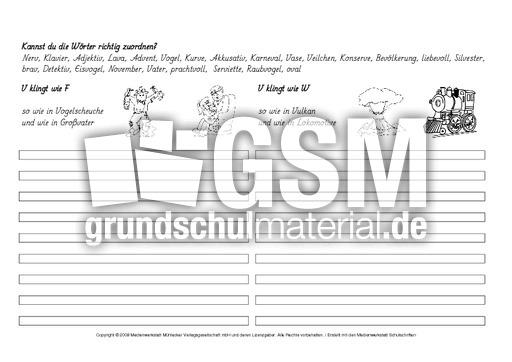 w rter mit v zuordnen 1 3 arbeitsbl tter rechtschreibung deutsch klasse 3. Black Bedroom Furniture Sets. Home Design Ideas