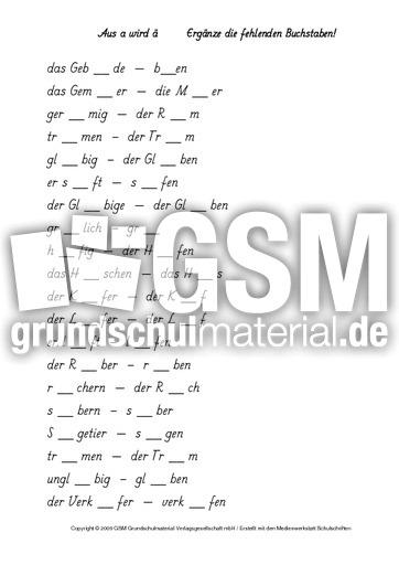 aus-au-wird-äu-1-2 - Arbeitsblätter - Rechtschreibung - Deutsch ...